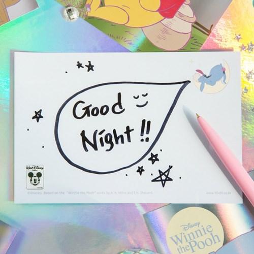 [디즈니] 위니더푸 홀로그램 엽서