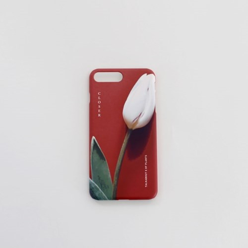CLOSER red tulip phone case (TALKABOUT x OF PLANTS)