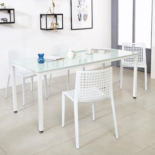 K34 스틸 1500 테이블 의자 세트_(1567343)