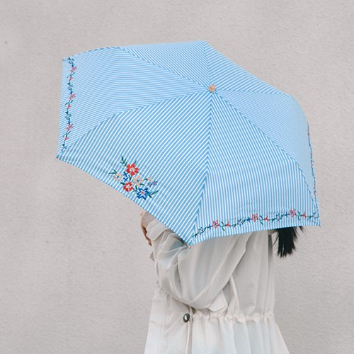 Retro Flower Embroidery Mini 양우산