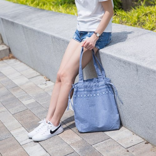 STRING DENIM ECO BAG