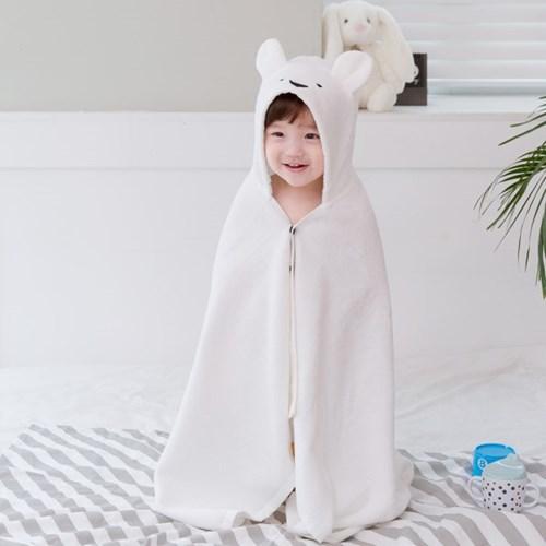 코니테일 아기목욕가운 - 래빗(유아비치타올 샤워가운)