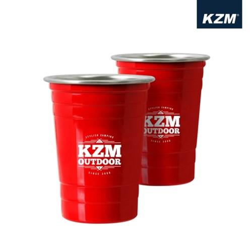 카즈미 웨이브 콜드컵 2Pset K8T3K007 / 500ml 캠핑컵 캠핑용품