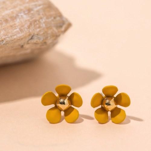 작은 컬러 꽃 귀걸이
