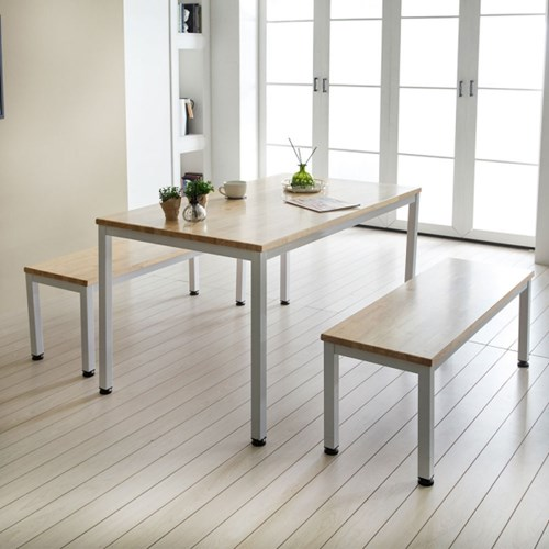 자이 원목 6인용 식탁테이블 + 벤치2세트