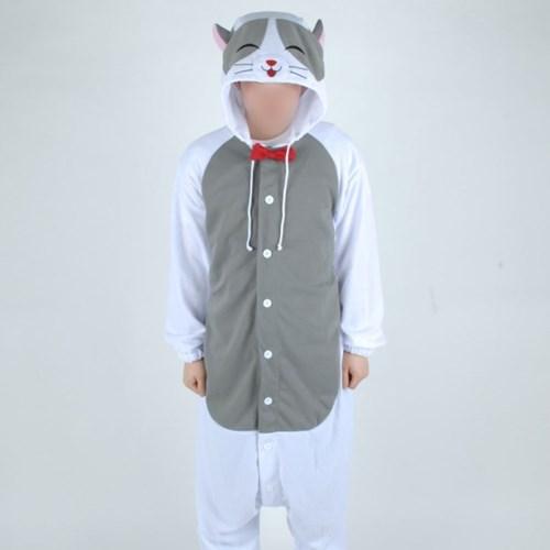 사계절 동물잠옷 스마일 고양이 (그레이)