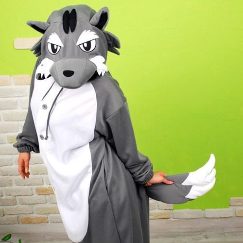 사계절 동물잠옷 늑대 (그레이)