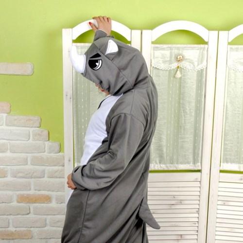 사계절 동물잠옷 코뿔소 (그레이)
