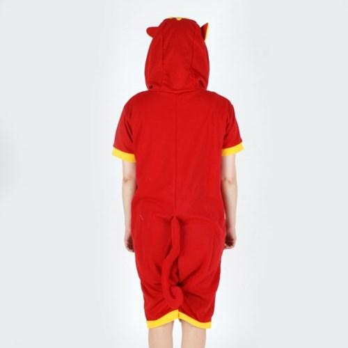 반팔 동물잠옷 고양이 (레드)