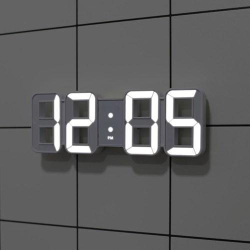 [무아스] 퓨어 미니 LED 벽시계 - 화이트