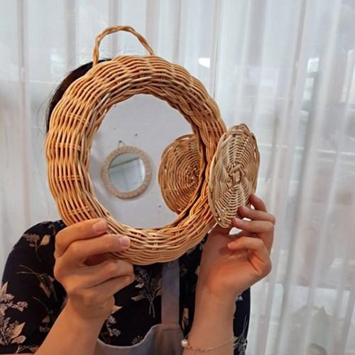 [텐텐클래스] (제주) 라탄공예 라탄거울, 라탄바구니