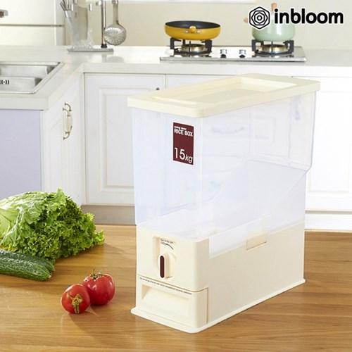 인블룸 레버 회전식 슬림 쌀통 15kg_(1725957)