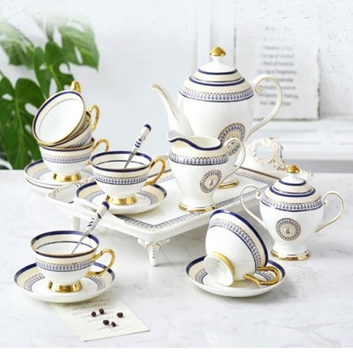 로얄클래식 블루앤틱 커피잔세트