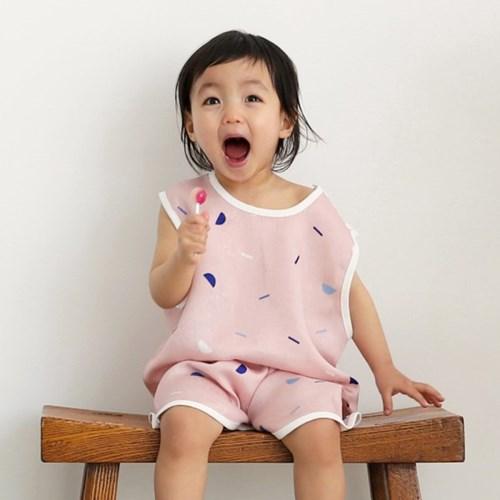 모달이중거즈 풍기인견 아기 여름 수면조끼 기프트세트 5종