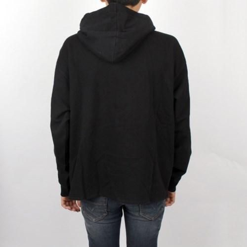 19SS 아크네 로고 오버핏 후드티 (블랙) BI0022 BLACK