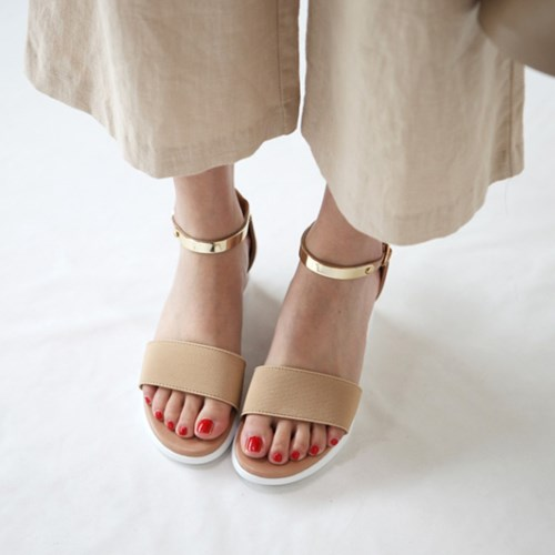 kami et muse  Gold metal ankel strap wedge sandals _KM19s208