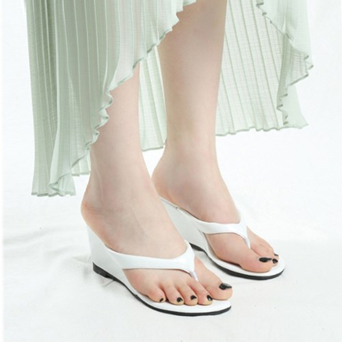 kami et muse Enamel wedge flip flop sandals_KM19s212