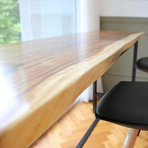 라센 보루네오 우드슬랩 통원목 바 테이블 1800_(774143)