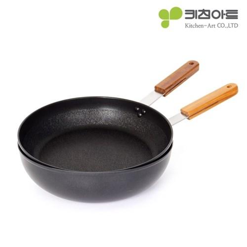 키친아트 FORT 인덕션 후라이팬 2종(28후라이팬+28궁중팬)