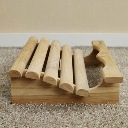 발이 편한 고무나무 원목 발받침대 책상 발판