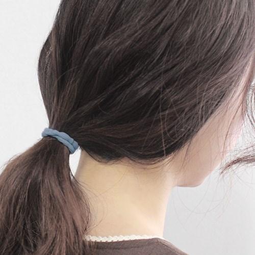 블루 데일리 머리끈