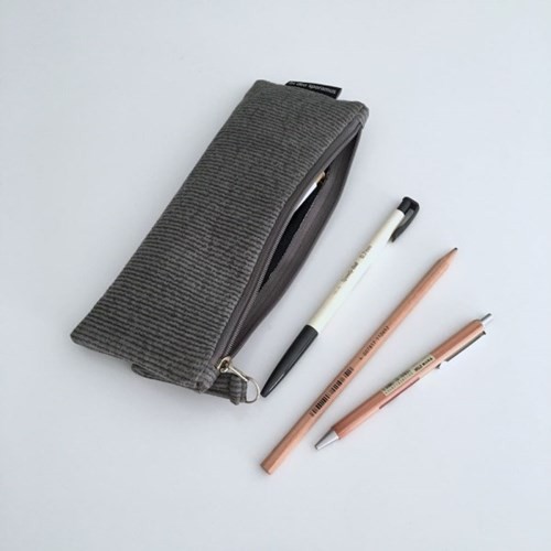 퀼팅 그레이 필통(Quilting gray pencil case)
