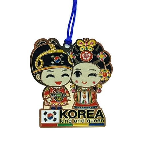 한국전통문양 커플캐릭터 관광지 북마크 책갈피(10개묶음)