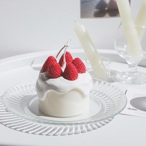 생크림 딸기 케이크캔들