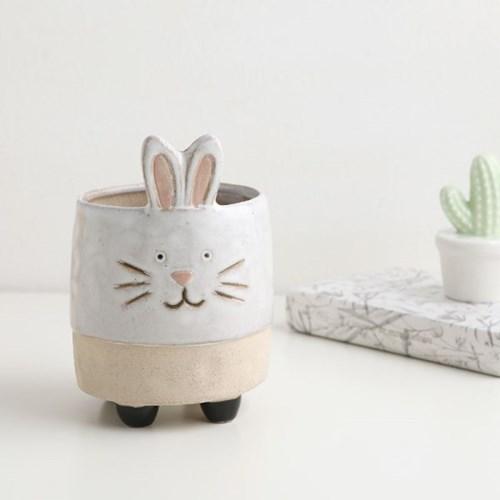 토끼 도자기 동물 화분
