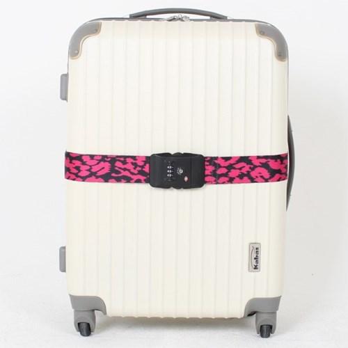 [TCUBE] TSA 3다이얼 여행가방 터짐방지 가방보호벨트 - 호피