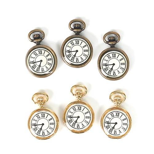 [펠트친구] 금속참장식-회중시계(2개)[1491]