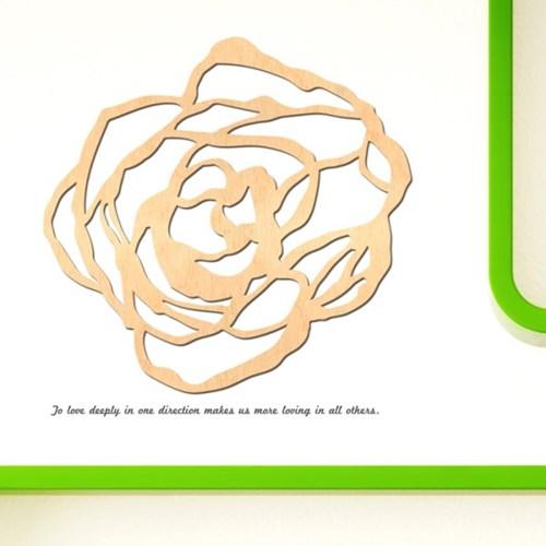우드스티커- 장미 (반제품) 꽃플라워 W483 입체포인트