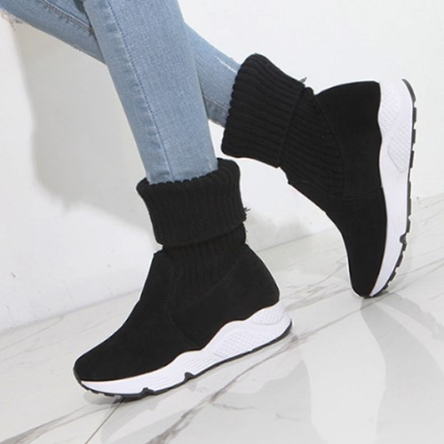 kami et muse Knit combi ankle sneakers boots_KM19w136