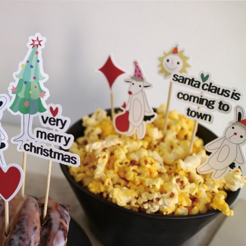 오 파티 토퍼- 일찍자는 새의 크리스마스