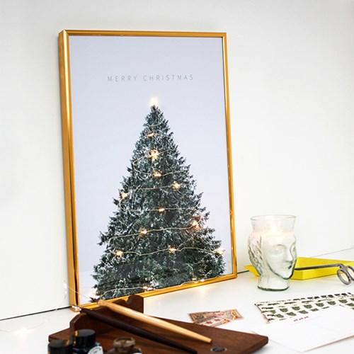 크리스마스 트리 장식 포스터 vol.1(골드 크리스마스 사인)