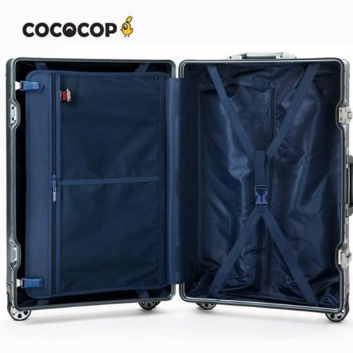 코코캅 델라 20인치 기내용 실버 알루미늄 100% 여행용 캐리어