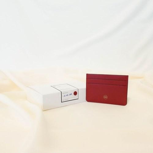 [IDEALMOMENT] 베이직 카드지갑_레드