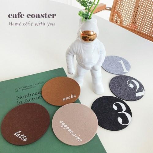 펠트 티코스터 카페 컵받침 6개세트