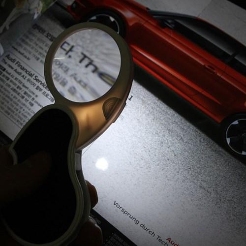 LED 열쇠고리 돋보기(45mm렌즈x4배)/휴대용 확대경