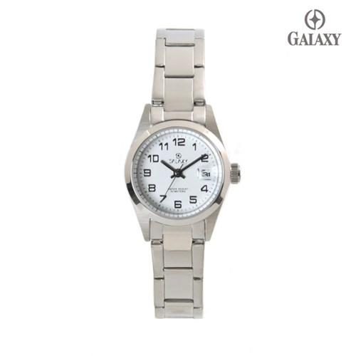 갤럭시 5기압 커플시계 여자 메탈손목시계 QT7015FA