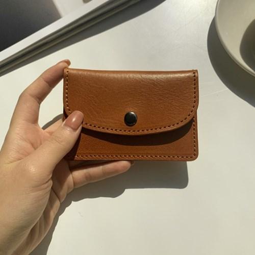 베이직 덮개 카드 케이스 지갑