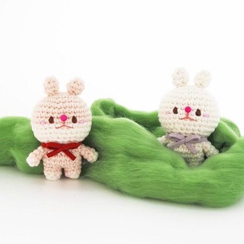 (손뜨개 DIY) 코바늘 토끼 인형 키트