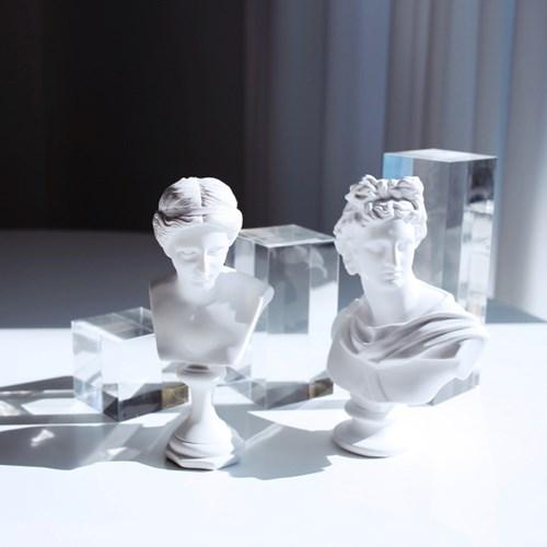 비너스 아폴로 석고상 15cm 중형 / 카페 소품