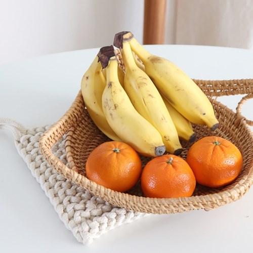 라탄 과일 바구니 라탄공예 트레이