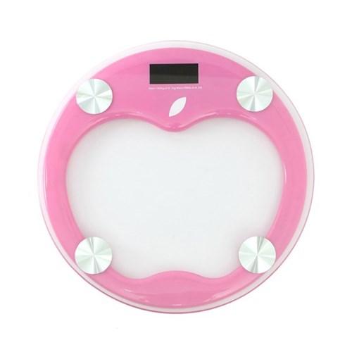 애플 원형 디지털 체중계(핑크)