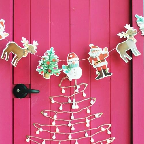 크리스마스 가랜드 세트(가랜드 4종+ 쇼핑백)