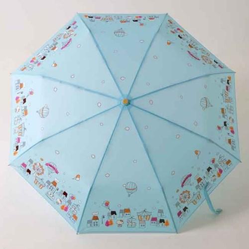 [더로라] 헬로키티 자동 3단 접는 우산- 테마파크 E007
