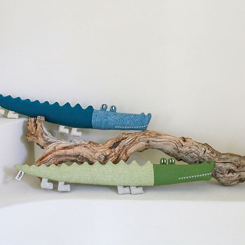 JACK, 아메리카 악어 멸종위기동물 홈데코 인형 17x68cm_(1878855)