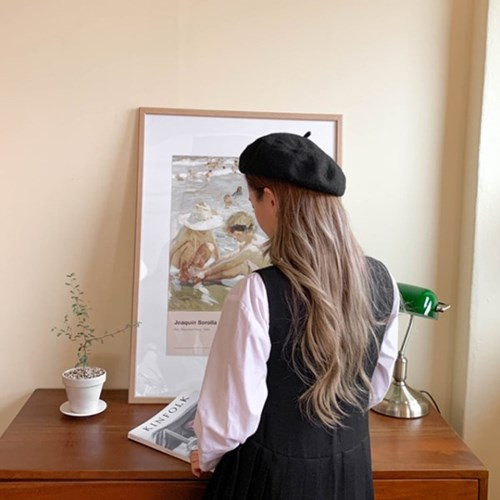 무지 꼭지 베레모 모자 6color