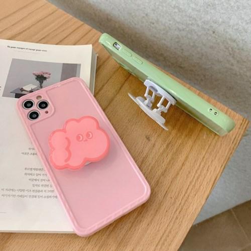 핑크 클라우드 & 올리브 자스민 스마트톡 카메라보호 아이폰케이스